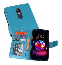 Wallet Cases Hoesje voor LG K10 2018 Turquoise