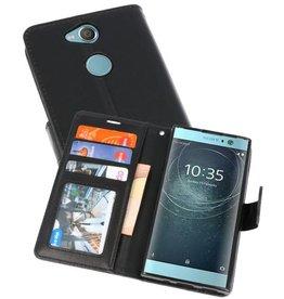 Wallet Cases Hoesje voor Xperia XA2 Zwart