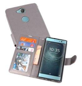 Wallet Cases Hoesje voor Xperia XA2 Grijs