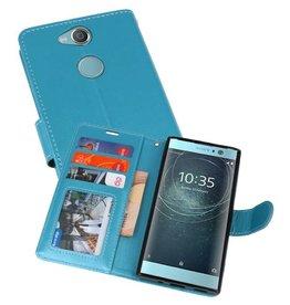 Wallet Cases Hoesje voor Xperia XA2 Turquoise