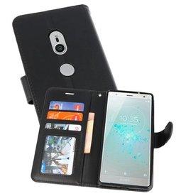 Wallet Cases Hoesje voor Xperia XZ2 Zwart