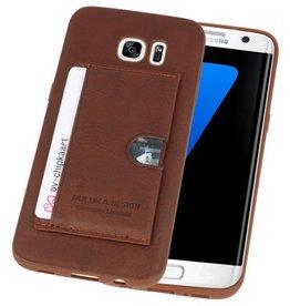 Hardcase Hoesje voor Samsung Galaxy S7 Edge Bruin