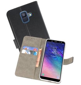 Bookstyle Wallet Cases Hoesje voor Galaxy A6 2018 Zwart