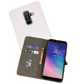 Bookstyle Wallet Cases Hoesje Samsung Galaxy A6 Plus 2018 Wit