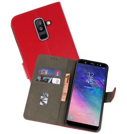 Bookstyle Wallet Cases Hoesje Samsung Galaxy A6 Plus 2018 Rood