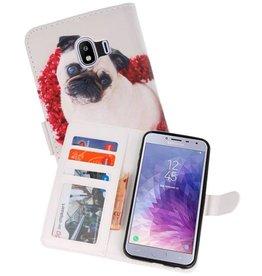 Hondje Bookstyle Hoesje voor Galaxy J4 2018