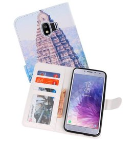 Temple 1 Bookstyle Hoesje voor Galaxy J4 2018