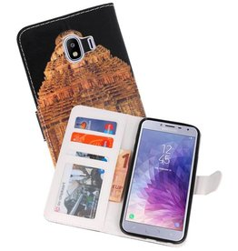 Temple 2 Bookstyle Hoesje voor Galaxy J4 2018
