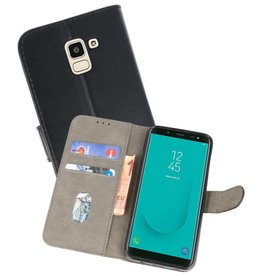 Bookstyle Wallet Cases Hoesje voor Galaxy J6 2018 Zwart