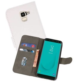 Bookstyle Wallet Cases Hoesje voor Galaxy J6 2018 Wit