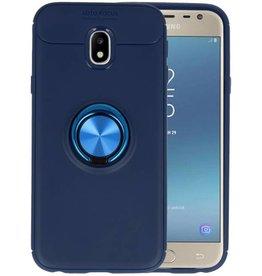 Softcase voor Galaxy J3 2017 Hoesje met Ring Houder Navy