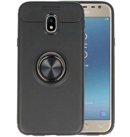 Softcase voor Galaxy J3 2017 Hoesje met Ring Houder Zwart