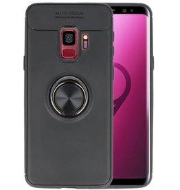 Softcase voor Galaxy S9 Hoesje met Ring Houder Zwart