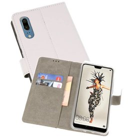 Bookstyle Wallet Cases Hoes voor Huawei P20 Wit