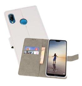Huawei P20 Lite Hoesje Kaarthouder Book Case Telefoonhoesje Wit