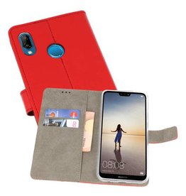 Bookstyle Wallet Cases Hoes voor Huawei P20 Lite Rood