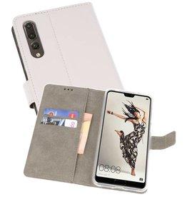 Huawei P20 Pro Hoesje Kaarthouder Book Case Telefoonhoesje Wit