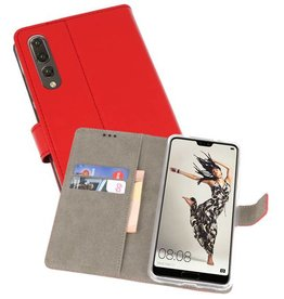 Bookstyle Wallet Cases Hoes voor Huawei P20 Pro Rood
