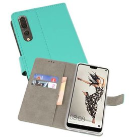 Bookstyle Wallet Cases Hoes voor Huawei P20 Pro Groen