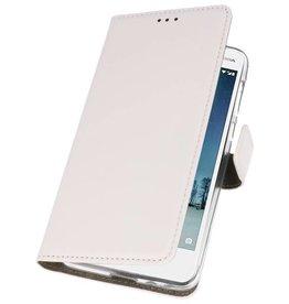 Nokia 2 Hoesje Kaarthouder Book Case Telefoonhoesje Wit