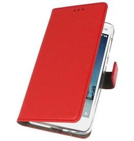Nokia 2 Hoesje Kaarthouder Book Case Telefoonhoesje Rood