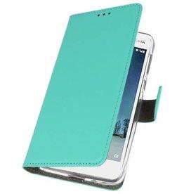 Nokia 2 Hoesje Kaarthouder Book Case Telefoonhoesje Groen