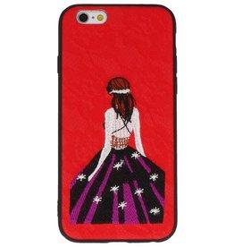 Prinses Borduurwerk iPhone 6 Hoesje Rood