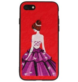 Prinses Borduurwerk iPhone 8 / 7 Hoesje Rood
