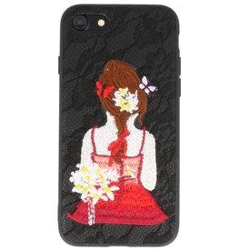 Prinses Borduurwerk iPhone 8 / 7 Hoesje Zwart