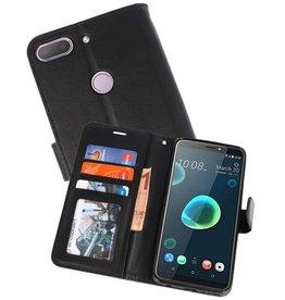 Wallet Cases Hoesje voor HTC Desire 12 Plus Zwart