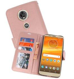 Wallet Cases Hoesje voor Moto E5 Plus Roze