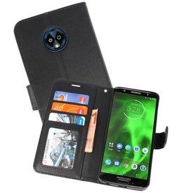 Wallet Cases Hoesje voor Moto G6 Plus Zwart