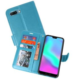 Wallet Cases Hoesje voor Honor 10 Turquoise