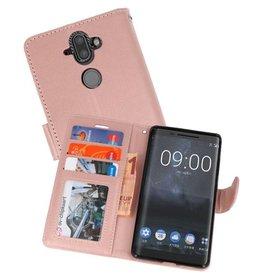 Wallet Cases Hoesje voor Nokia 8 Sirocco Roze