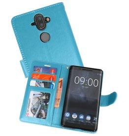 Wallet Cases Hoesje voor Nokia 8 Sirocco Turquoise