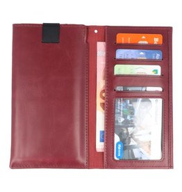 "Insteek Wallet Cases voor iPhone 5.7"" Bordeaux Rood"
