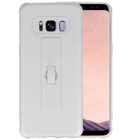 Carbon series hoesje Samsung Galaxy S8 Zilver