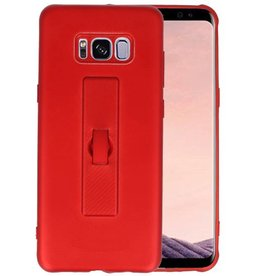 Carbon series hoesje Samsung Galaxy S8 Plus Rood
