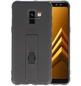 Carbon series hoesje Samsung Galaxy A8 2018 Zwart