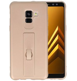 Carbon series hoesje Samsung Galaxy A8 2018 Goud