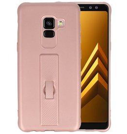 Carbon series hoesje Samsung Galaxy A8 2018 Roze