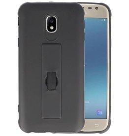 Carbon series hoesje Samsung Galaxy J3 2017 Zwart