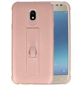 Carbon series hoesje Samsung Galaxy J3 2017 Roze