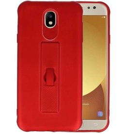 Carbon series hoesje Samsung Galaxy J7 2017 Rood