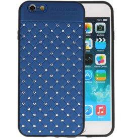 Witte Chique Hard Cases voor iPhone 6 Blauw