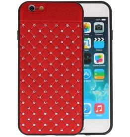 Witte Chique Hard Cases voor iPhone 6 Rood