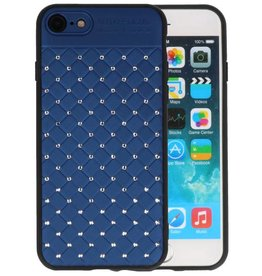 Witte Chique Hard Cases voor iPhone 8 - 7 Blauw