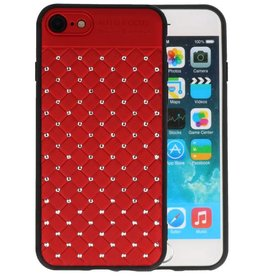 Witte Chique Hard Cases voor iPhone 8 - 7 Rood