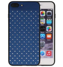 Witte Chique Hard Cases voor iPhone 8 - 7 Plus Blauw