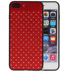 Witte Chique Hard Cases voor iPhone 8 - 7 Plus Rood